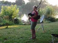 Bagpipes by Sacramento River